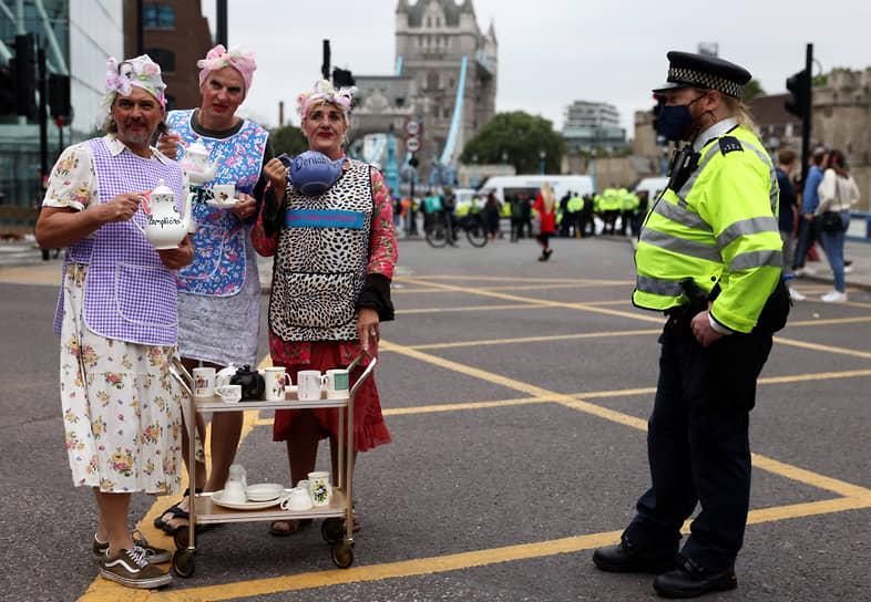 Лондон, Великобритания. Акция протеста против климатических изменений