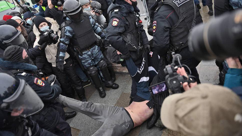 Митинг в поддержку политика Алексея Навального 23 января