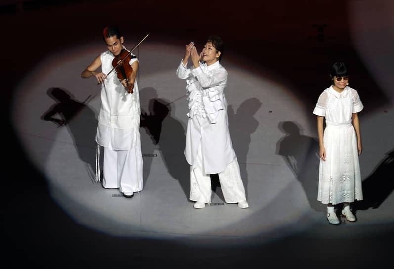 Выступление на церемонии закрытия Паралимпиады