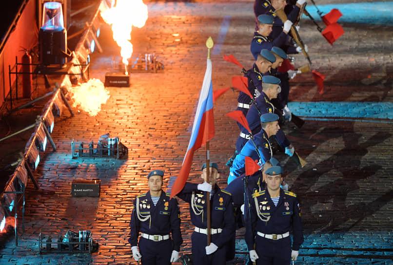 Выступление сводного военного оркестра Воздушно-десантных войск России