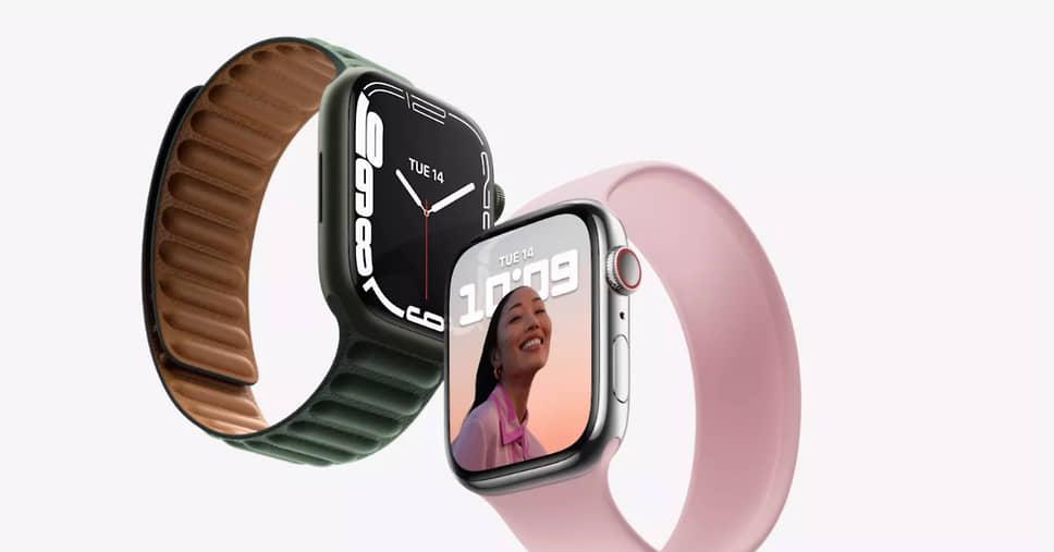 Новое поколение «умных» часов Watch Series 7 отличается корпусом из алюминия, нержавеющей стали, титана и является самым прочным из всех Watch