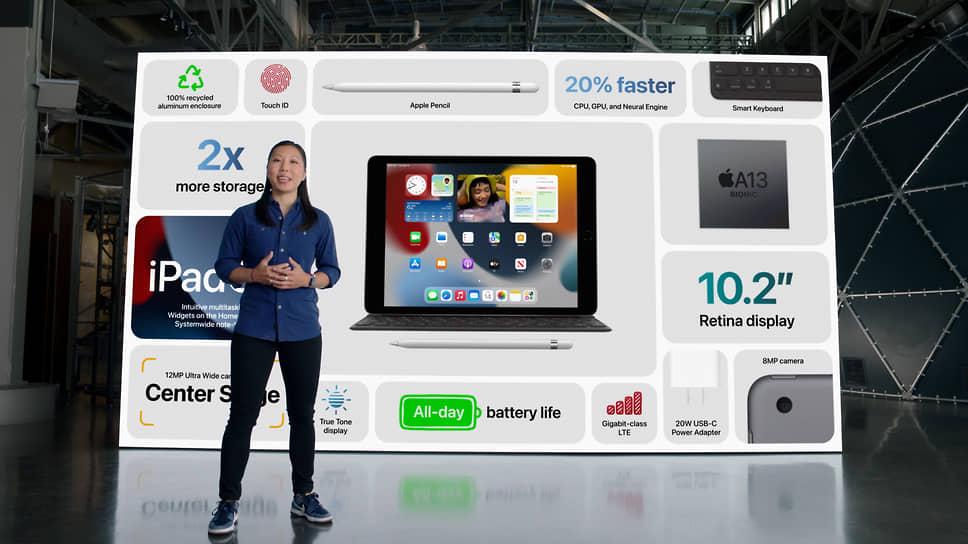 На рынок новый iPad выйдет с операционной системой iPad OS 15. Базовый планшет получит 64 ГБ встроенной памяти и будет стоить от $329