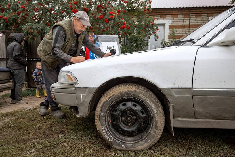 Новосибирская область. Выездное голосование в селе Ленинское