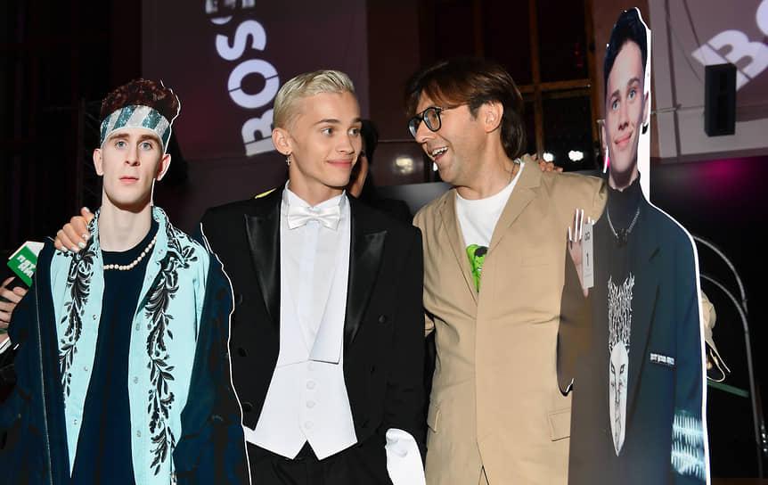 Блогер, музыкант Даня Милохин (слева) и телеведущий Андрей Малахов на церемонии вручения ежегодной премии GQ Men of the Year 2021