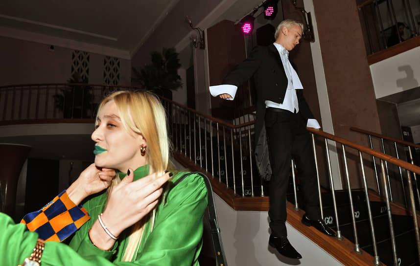 Блогер, музыкант Даня Милохин и актриса Мария Миногарова на церемонии вручения ежегодной премии GQ Men of the Year 2021