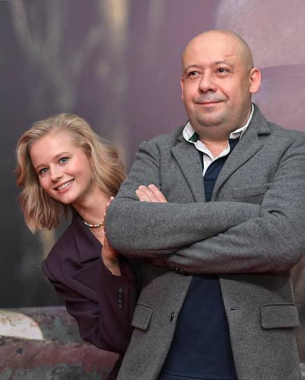 Актриса Александра Бортич и режиссер Алексей Герман-младший на премьере своего фильма «Дело» в кинотеатре «КАРО 11 Октябрь»