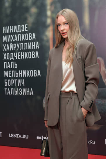 Актриса Светлана Ходченкова на премьере фильма «Дело» в кинотеатре «КАРО 11 Октябрь»