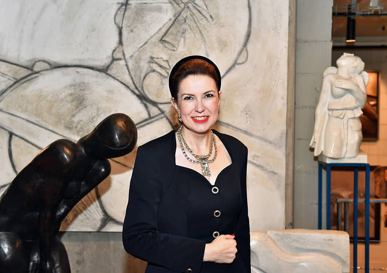 Заместитель председателя общественной организации «Москонтроль» Юлия Рублева на церемонии открытия скульптурной галереи Георгия Франгуляна Frangulyan Gallery