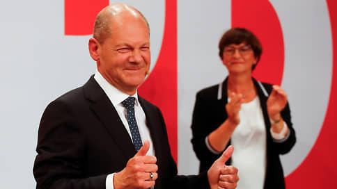К креслу канцлера подбираются и справа, и слева  / Формальную победу на выборах в ФРГ одерживают социал-демократы