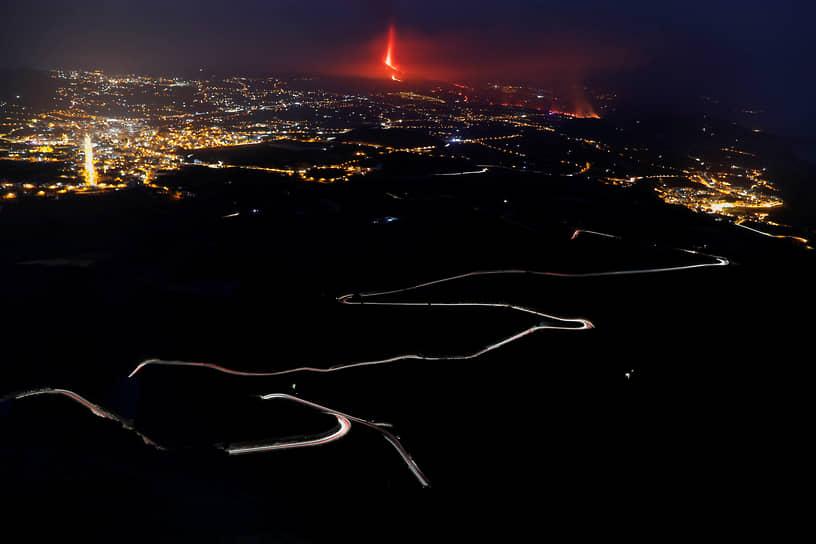 Тихарафе, Испания. Извержение вулкана на острове Ла-Пальма