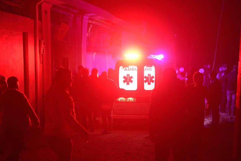 Автомобиль скорой медицинской помощи в азербайджанском городе Гянджа