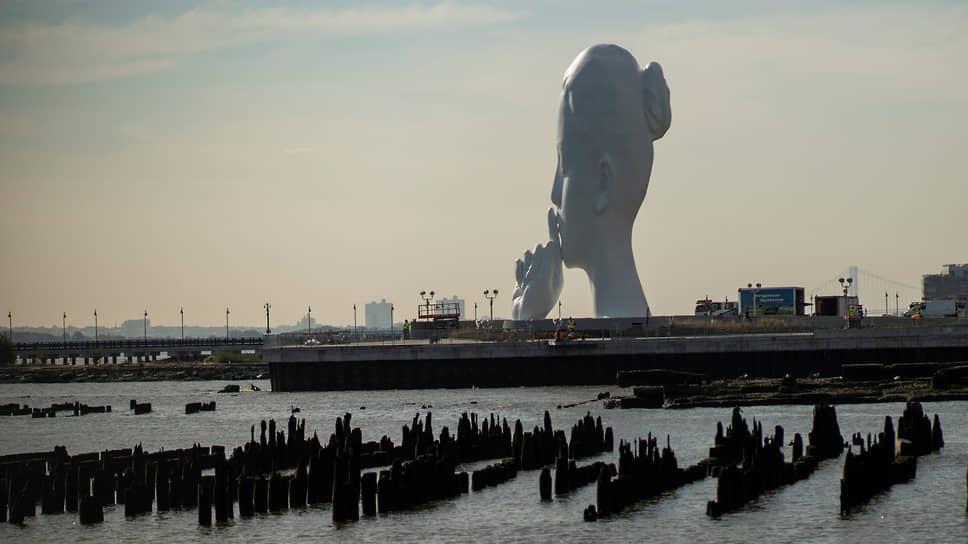 В Нью-Джерси открыли необычную скульптуру. Она призывает помолчать и прислушаться к шуму воды