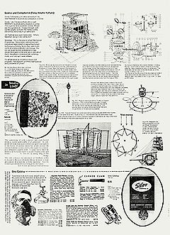 """Осень 1968-го. """"Ностальгия. Том посвящен механической технике. Многие объединения и индивиды стремятся воспроизвести технологическую историю человечества, и эта книга дает им возможность не ограничиваться западными технологиями"""". Из рецензии на издание """"Наука и цивилизация в Китае. Том IV, часть 2"""" ($35). Кроме того, представлены респираторы ($3,99), молотки ($3,39) и прочие незаменимые в быту предметы из каталога фирмы Silvo."""