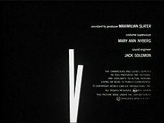 «Человек с золотой рукой» Титры СОЛ БАСС, режиссер ОТТО ПРЕМИНДЖЕР, 1955
