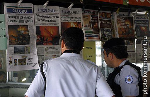 18.07.2007 Пассажирский самолет Airbus A320 потерпел крушение при посадке в аэропорту Сан-Паулу (Бразилия)