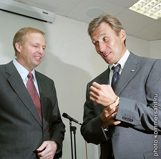 Президент ТНК-ВР Роберт Дадли (слева) и исполнительный директор ТНК-ВР Герман Хан.