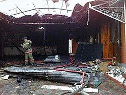 В Чечне сожгли дома Ямадаевых. Фото с сайта kommersant.ru