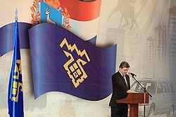 Глава города Тольятти Анатолий Пушков. Фото: Евгений Гладков /Коммерсантъ. Загружается с сайта Ъ