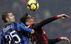 Интеру не повезло в карточках, но повезло в игре // Он выиграл у Милана, несмотря на два удаления