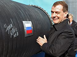 Президент России Дмитрий Медведев не верил в то, что строительство Nord Stream начнется. Фото: Александр Миридонов/Коммерсантъ. Загружается с сайта Ъ