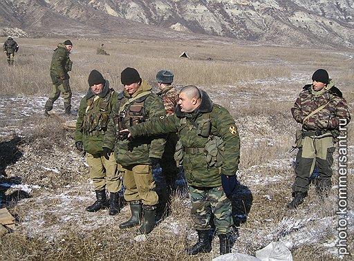 Бойцы 102-ой бригады внутренних войск Дагестана