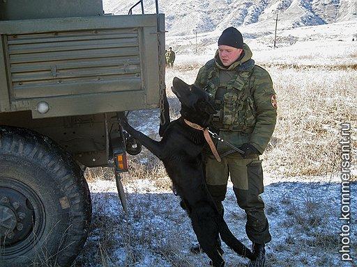 Боец 102-ой бригады внутренних войск Дагестана