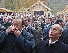 Муртаза Рахимов (слева) и Владимир Путин