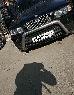 Служебный автомобиль BMW X5 председателя совета директоров ОАО «Магнитогорский металлургический комбинат» (ММК) Виктора Рашникова