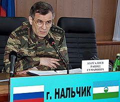 Министр внутренних дел России Рашид Нургалиев во время визита в МВД Кабардино-Балкарской республики