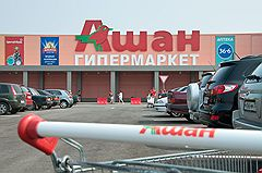 """""""Ашан"""" припаркует продуктовую тележку"""