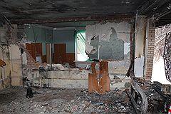 Смертница Завжат Даудова взорвалась в гостиничном домике спортивно-стрелкового клуба в Кузьминках (на фото — его развалины), не доехав до Красной площади