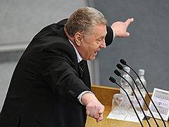 Лидер Либерально-демократической партии России (ЛДПР), член комитета ГД по обороне Владимир Жириновский на заседании Государственной думы