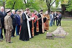 Молебен на советском мемориальном кладбище в Керепеши, где похоронены участники Второй мировой войны