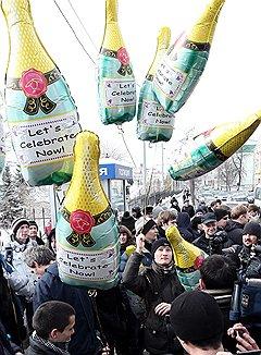 Акция против милицейского беспредела около здания МВД Татарстана