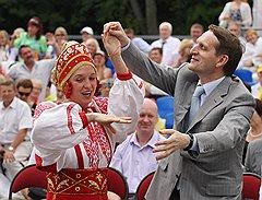 Сергей Нарышкин самыми разными способами демонстрировал избирателям любовь к Ленинградской области