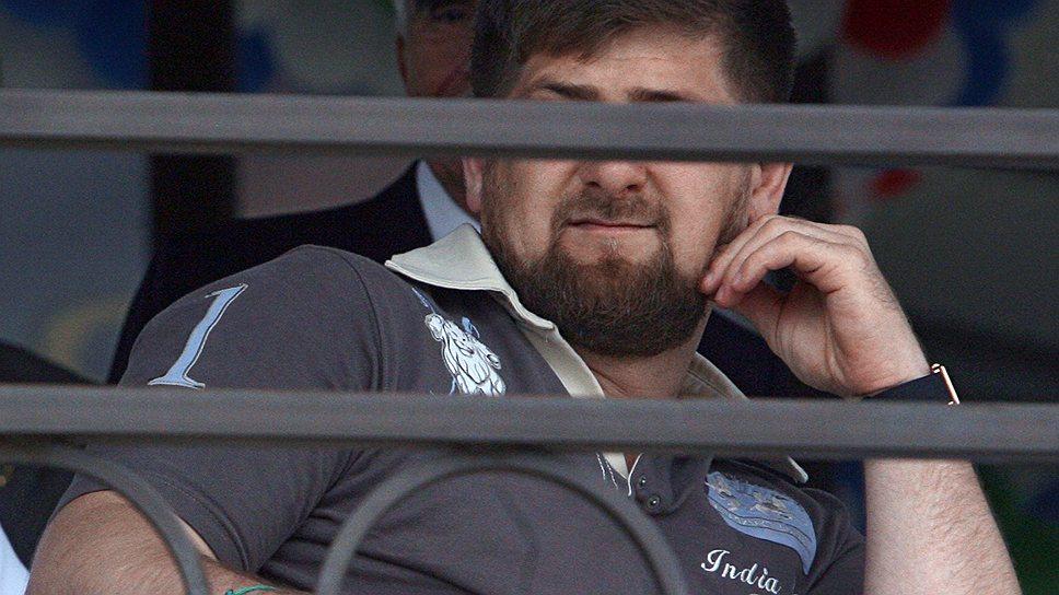 """Глава Чеченской Республики Рамзан Кадыров всегда горячо поддерживает и переживает за грозненский """"Терек"""""""