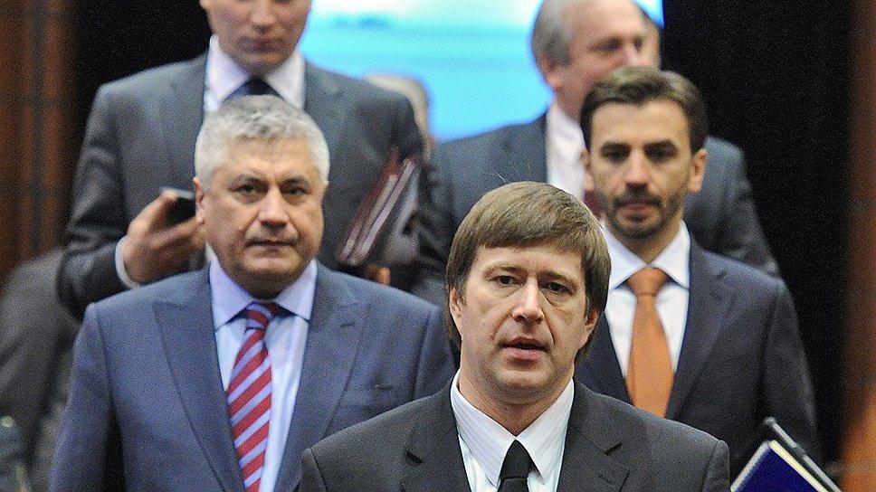 Министр юстиции Александр Коновалов (на первом плане) считает, что РФ пора разработать правовой механизм исполнения решений Страсбургского суда