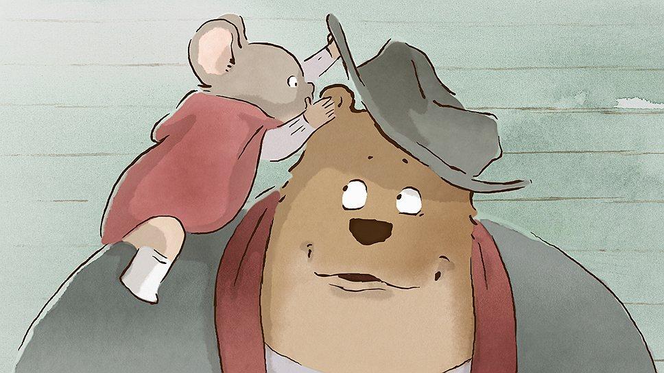 """По картинке мультфильм """"Эрнест и Селестина"""" похож на старомодный карандашно-акварельный рисунок, словно только что возникший на бумаге"""