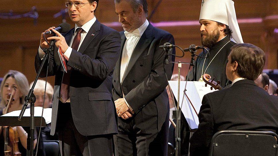 Министр культуры Владимир Мединский (в центре) поддержал Валерия Гергиева (справа) в его роли главного душеприказчика российского симфонического репертуара