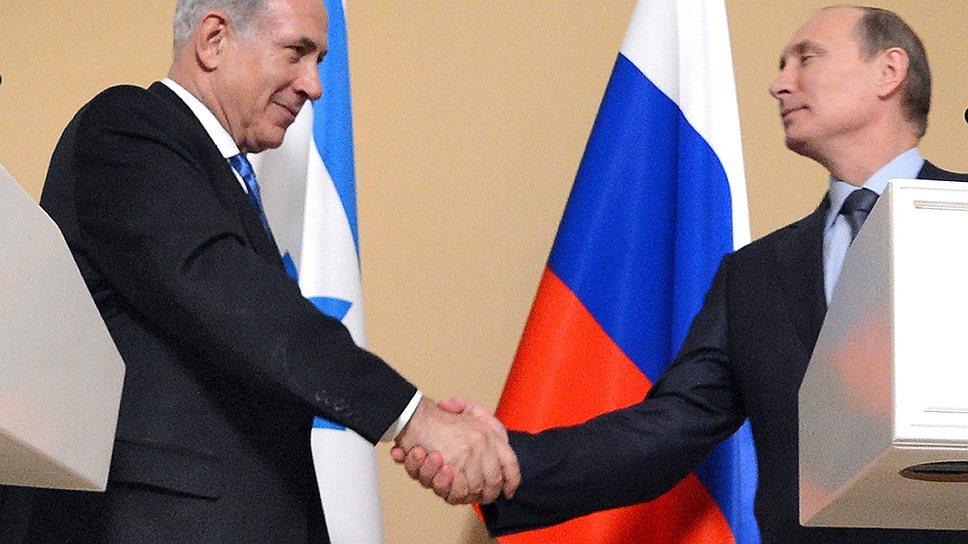 Визит Биньямина Нетаньяху (слева) в Сочи никак не скажется на поставках С-300 в Сирию