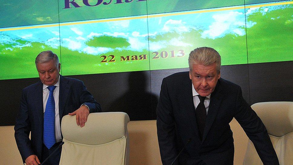 Константин Ромодановский (слева) и Сергей Собянин солидарны в необходимости ограничить поток мигрантов из СНГ