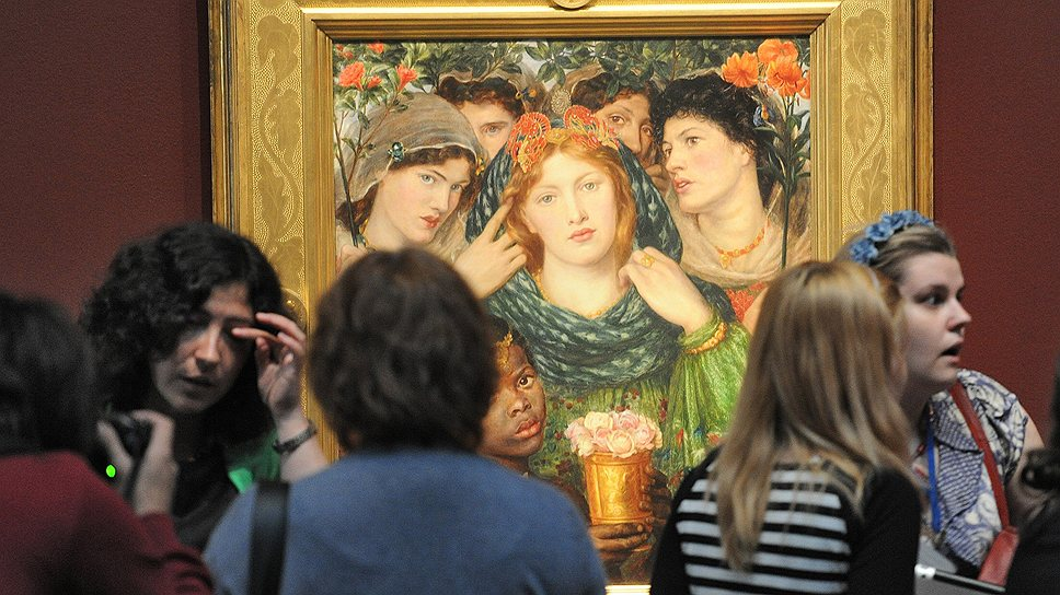"""Прерафаэлиты неслучайно стали возлюбленными художниками самой широкой публики (на фото — """"Возлюбленная"""" Россетти)"""