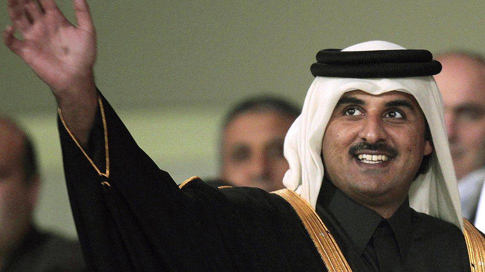 33-летний Тамим бен Хамад аль-Тани готов поддержать революционеров по всему арабскому миру, но не в своей стране