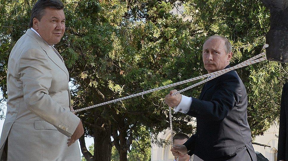Вводя в эксплуатацию колокол одной из украинских церквей, Владимир Путин и Виктор Янукович демонстрировали редкое (и по-другому ведь не скажешь) единодушие