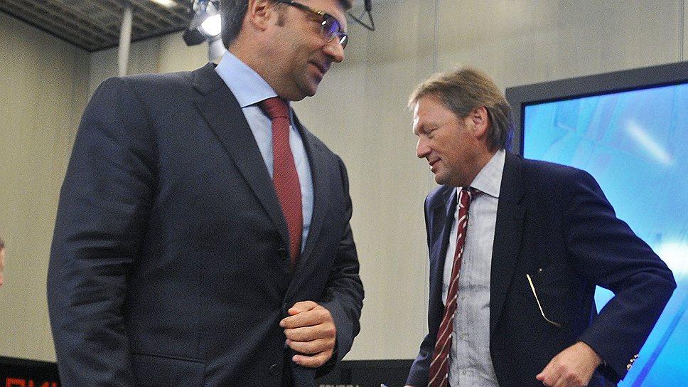 Борис Титов (справа) и Олег Денисенко пока смогли освободить по амнистии только 205 предпринимателей