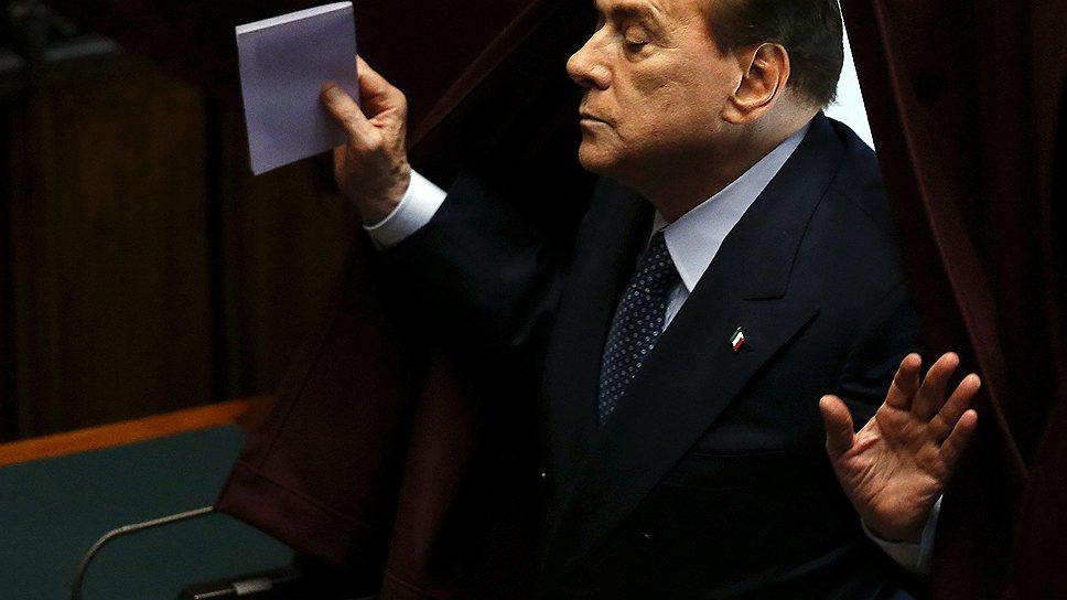 Сильвио Берлускони вверг Италию в очередной политический кризис