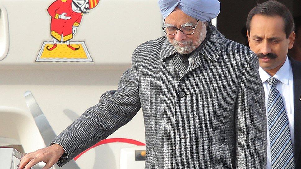 Премьер Индии Манмохан Сингх (на переднем плане) прилетел в Москву, чтобы сделать еще один шаг к удвоению товарооборота двух стран к 2015 году
