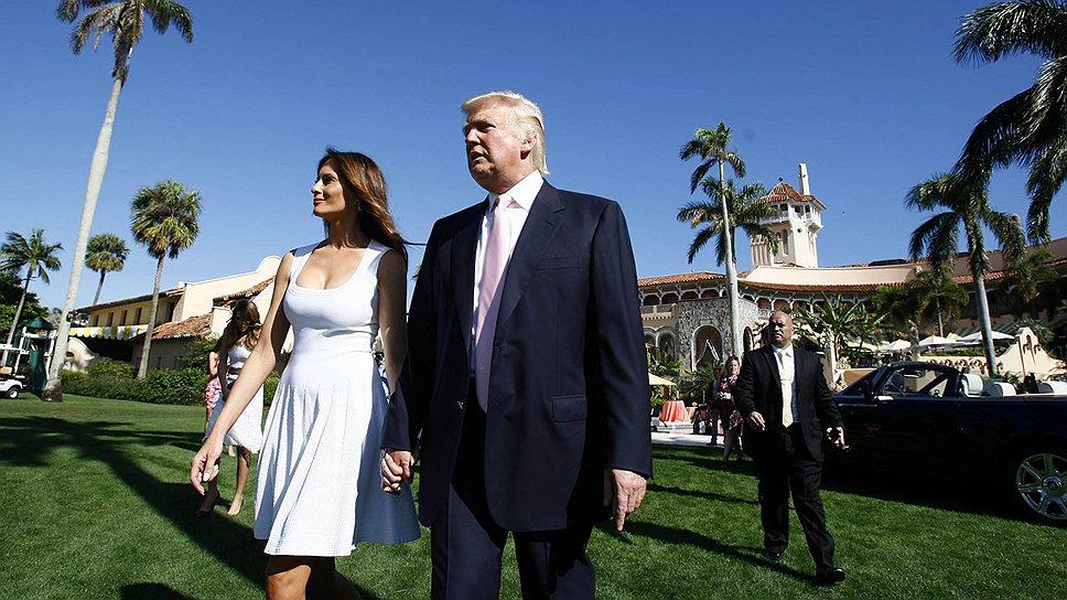 В 2010 году Дональд Трамп (на фото с женой Меланьи) заявил в интервью телеканалу Fox News, что обдумывает возможность баллотироваться на пост президента США в 2012 году
