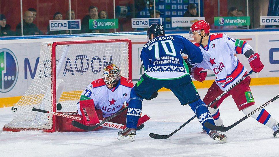 Хоккеисты ЦСКА выиграли шесть из последних семи матчей и вышли на третье место в таблице Западной конференции