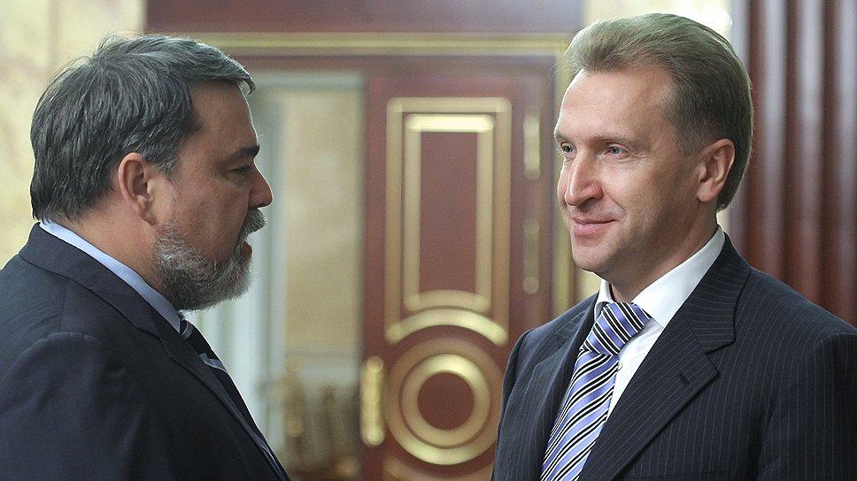 Первый вице-премьер Игорь Шувалов (справа) обрадовал своим решением всех, кроме главы ФАС Игоря Артемьева (слева)